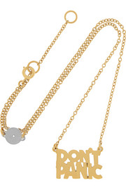 Don't Panic gold-tone necklace