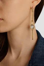 Marc by Marc Jacobs Orbit gold-tone, resin and leather earrings