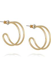 Orbit gold-tone earrings