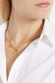 Marc by Marc Jacobs Cloud Coin gold-tone necklace
