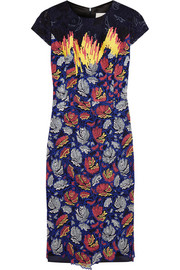 Peter Pilotto Vector embroidered organza and silk-satin dress