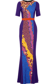 Peter Pilotto Atmos printed cady gown