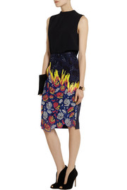 Peter Pilotto Vector embroidered organza and silk-satin skirt