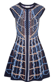 Peter Pilotto Intarsia stretch-knit mini dress