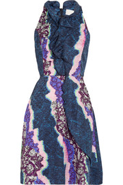 Ellipse printed silk dress