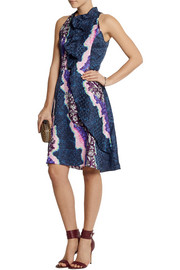 Peter Pilotto Ellipse printed silk dress
