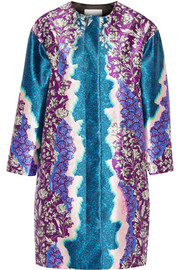 Peter Pilotto SK printed silk-twill coat
