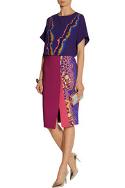 Peter Pilotto Ria printed stretch-cady pencil skirt