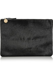 Clare V Margot calf hair clutch