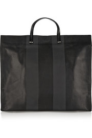 Simple coated-leather tote