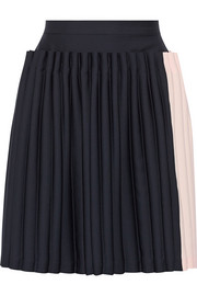 Two-tone pleated cady skirt
