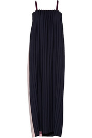 Opening Ceremony Two-tone pleated cady maxi dress