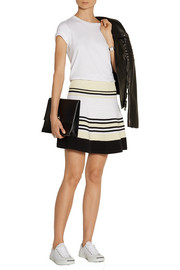 Opening Ceremony Striped ribbed cotton mini skirt