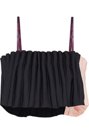 Opening Ceremony Two-tone pleated cady top