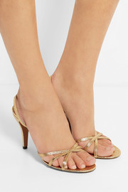 Marc Jacobs Metallic ostrich sandals