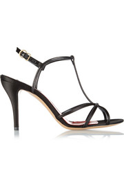 Marc Jacobs Satin and leather sandals