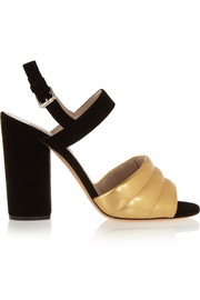 Marc Jacobs Metallic leather and suede sandals