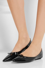Marc Jacobs Patent-leather point-toe flats
