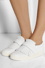 Marc Jacobs Fringed leather slip-on sneakers