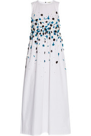Embellished cotton maxi dress