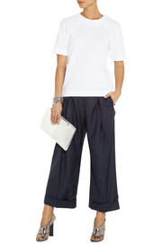 Preen by Thornton Bregazzi Cropped wool-twill wide-leg pants