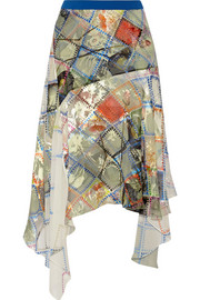 Preen by Thornton Bregazzi Valley devoré silk-chiffon skirt