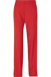 Preen by Thornton Bregazzi Boy contrast-trimmed wool straight-leg pants