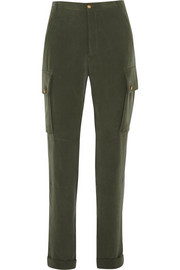Commando washed silk-crepe cargo pants