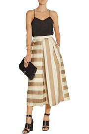 Tibi Escalante striped silk culottes
