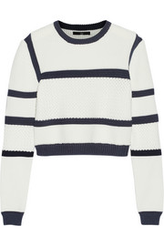 Sailor cropped knitted sweater