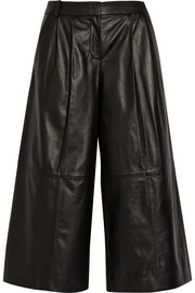 Tibi Pleated leather culottes