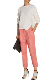 Tibi Cropped satin tapered pants