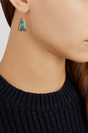 Brooke Gregson 18-karat gold, boulder opal and sapphire earrings