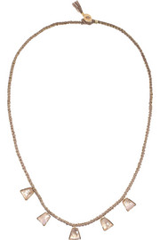 18-karat gold moonstone necklace