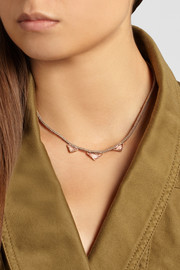 Brooke Gregson 18-karat rose gold tourmaline necklace