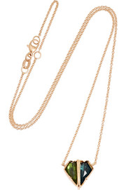 18-karat rose gold tourmaline necklace