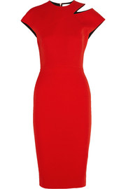 Victoria Beckham Cutout silk and wool-blend crepe dress