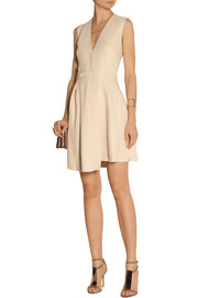 Victoria Beckham Asymmetric wrap-effect crepe dress