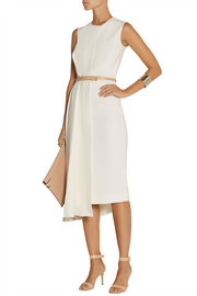 Victoria Beckham Belted stretch-crepe midi dress