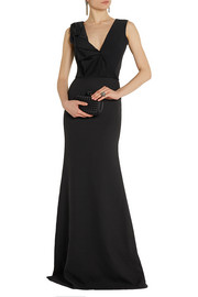 Victoria Beckham Ruffled silk and wool-blend gown