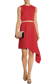 Victoria Beckham Belted asymmetric crepe dress