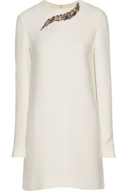 Victoria Beckham Embellished crepe dress