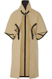 Cotton-gabardine cape