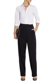 Victoria Beckham Wrap-effect satin-crepe tapered pants