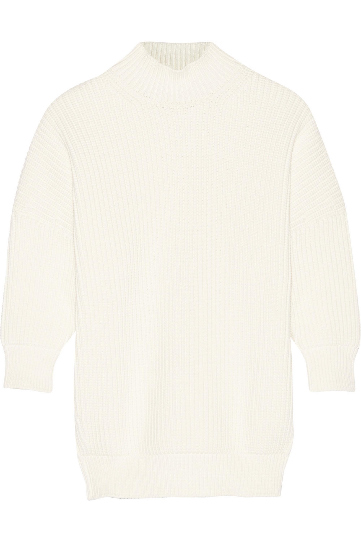 Victoria Beckham Cotton-blend turtleneck sweater