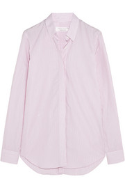 Victoria Beckham Pinstriped cotton-poplin shirt