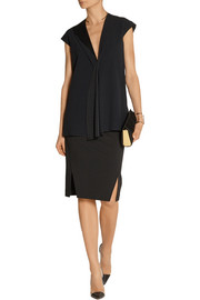 Victoria Beckham Draped crepe top