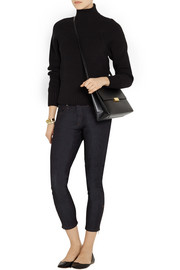 Victoria Beckham Ribbed cotton-blend turtleneck sweater