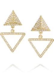 Bermuda 18-karat gold diamond earrings