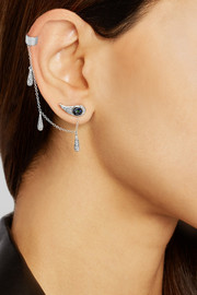 Ileana Makri Chained Tears 18-karat white gold multi-stone earring